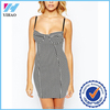 Hot New Sexy Women Summer Vintage Striped Bandage Dress Straps V-Neck Club Party Mini Bodycon Dresses