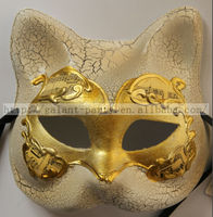 Factory Wholesale Fashio Man Woman Sexy Animal Full Face Dance Masquerade Cat Face Mask Vintage Cat Party Mask