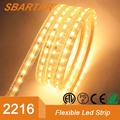 ETL approval ultra-narrow only 3.6mm wide PCB 2216 mini led strip light 50m/roll