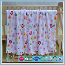 Famous Brand in cooperation hot sale low price can be portable cotton cellular baby blankets