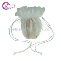 cheap mini drawstring jeweled organza sweet pouches bags