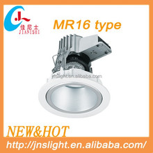 China diecasting Aluminum tradional MR16 halogen 220v light fixtures white color with best price