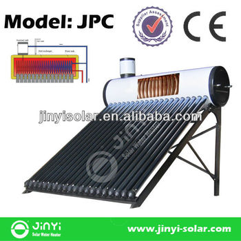 Integrated Vacuum Tube Pre-heated Solar Water Heater with Copper Coil for Quick Hot Water