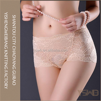 High waist lace normal cheap young girl cotton panty