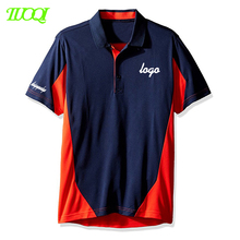 Custom Own Logo High Quality Ball Team Association Clothes Work 220Gsm Pique Cotton Short Sleeve Splice Color Polo Shirt