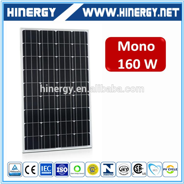 160W Plastic solar panels 160W solar panel price india for home use made in China