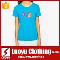Custom fabric weight women t-shirt
