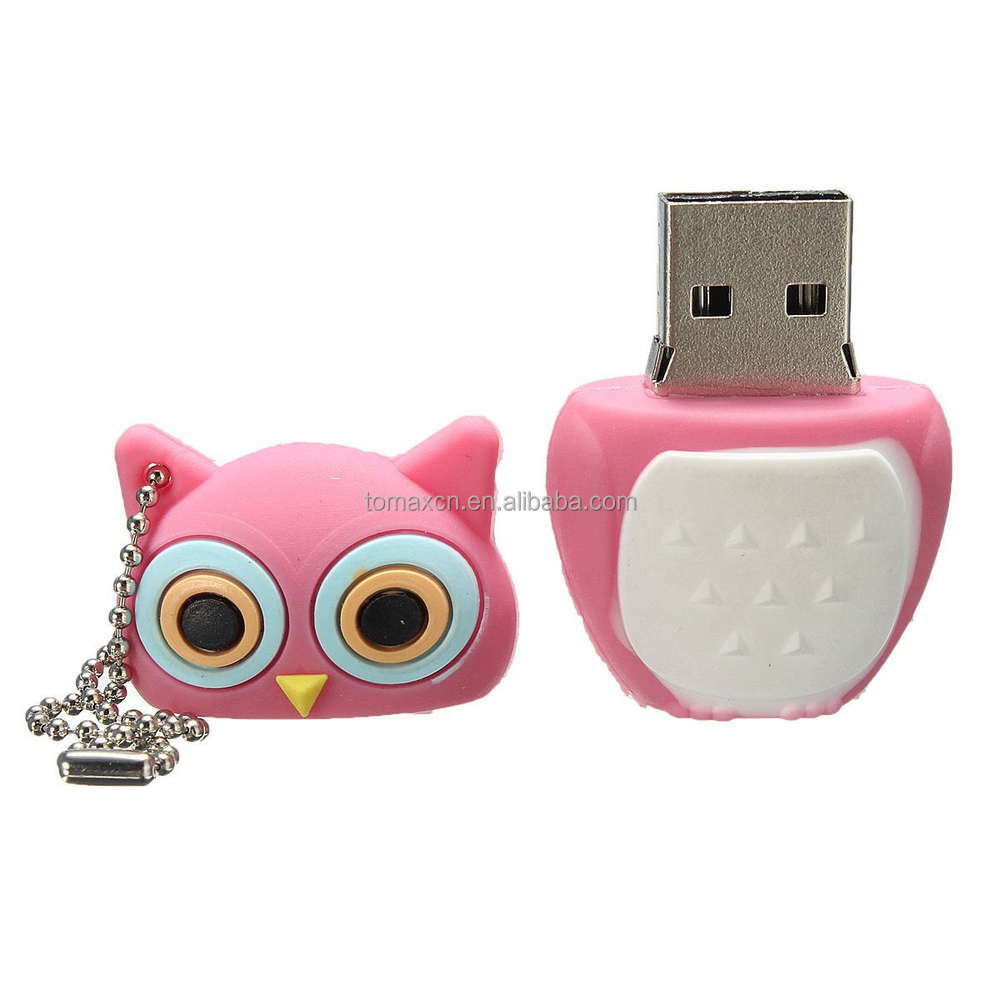 cheap bulk gifts owl design 100% original chip usb flash drive 4gb