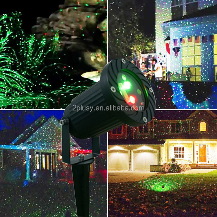 IP65 Waterproof Elf Christmas Lights Red Green Moving Twinkle Outdoor Christmas Laser Lights Projector Decorations For Home