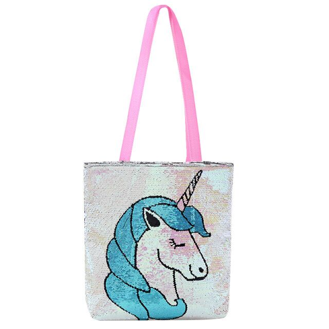 in-stock hot selling reversible mermaid sequin fabric unicorn skeleton flamingo style shopping <strong>bag</strong> tote shoulder <strong>bags</strong>
