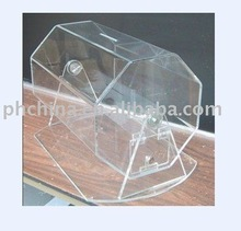 PH-B3 Desktop Transparent Acrylic Raffle Display Box,top grade Lottery Box