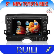 8 inch toyota REIZ/MARK- X car dvd player GPS/BT/TV/ SD/IPOD/USB/AUXIN etc.