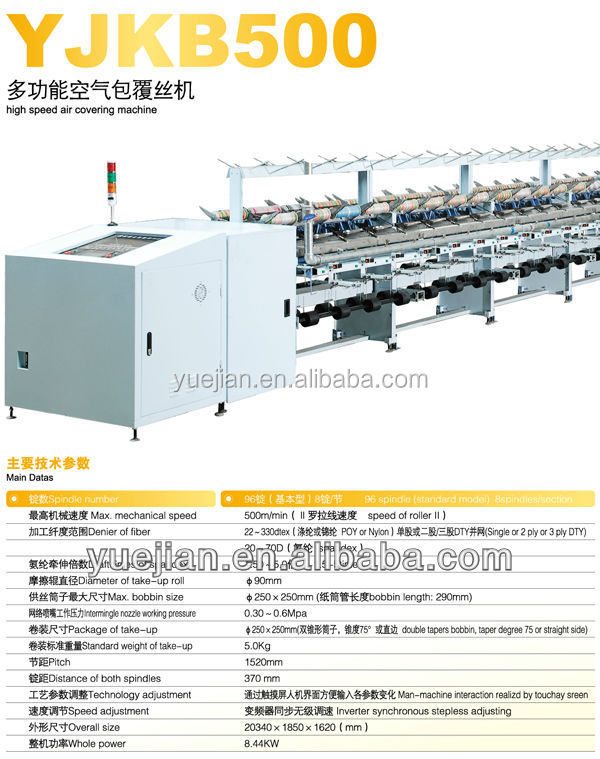 YJKB500D polyester and spandex Air Covering Machine