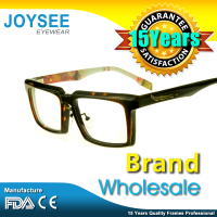 2016 Wenzhou Joysee Designer Brand Newest Fancy Cool Black Modern Acetate Spectacles Optical Eyeglasses Frames For Gentalmen