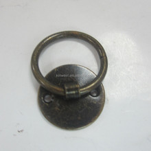 Antique Bronze Circle Ring Small Jewelry Wooden Box handle With Cheap Factory Price
