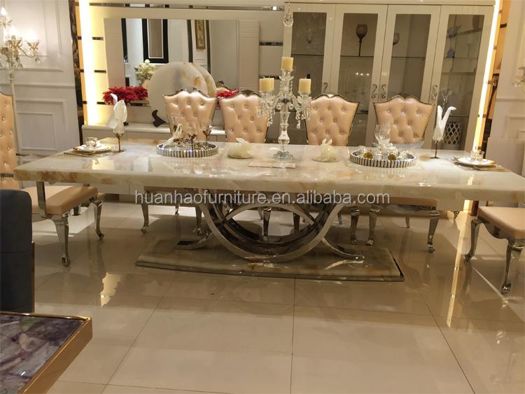 식사 룸 가구 세트 대리석 최고 식탁 디자인 이탈리아-금속 ...