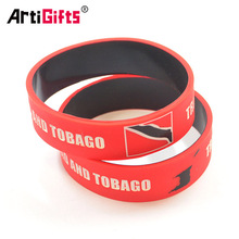 Newest style dual layer wristband silicone