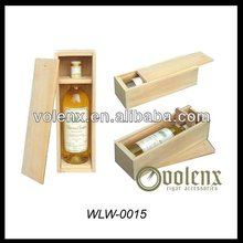 Single Bottle Slid Lid Unique Wholesale Wooden Boxed Wine