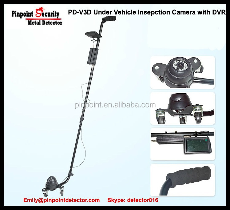 Stainless steel 304 HD Under Vehicle Camera with DVR recording function PD-V3D