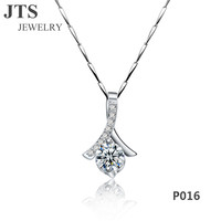 JTS 18K White Gold Shinning Artificial Diamond Pendants White CZ Fashion Jewelry for Women 2016 Hot Sale P016