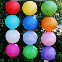 Wholesale hot sale lampion cheap 12 inches chinese round paper lantern