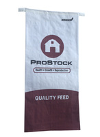 Kraft paper with woven laminated bags for animal feed,food,seeds. 50LBS horse paper bags