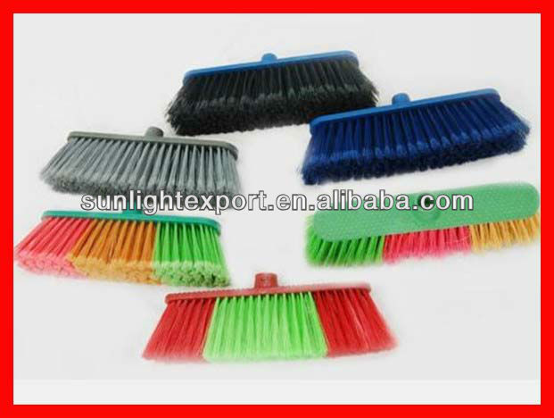 cheap multi-color floor cleaning broom head