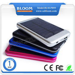 portable Solar power bank 5000mah dual USB for iphone for samsung