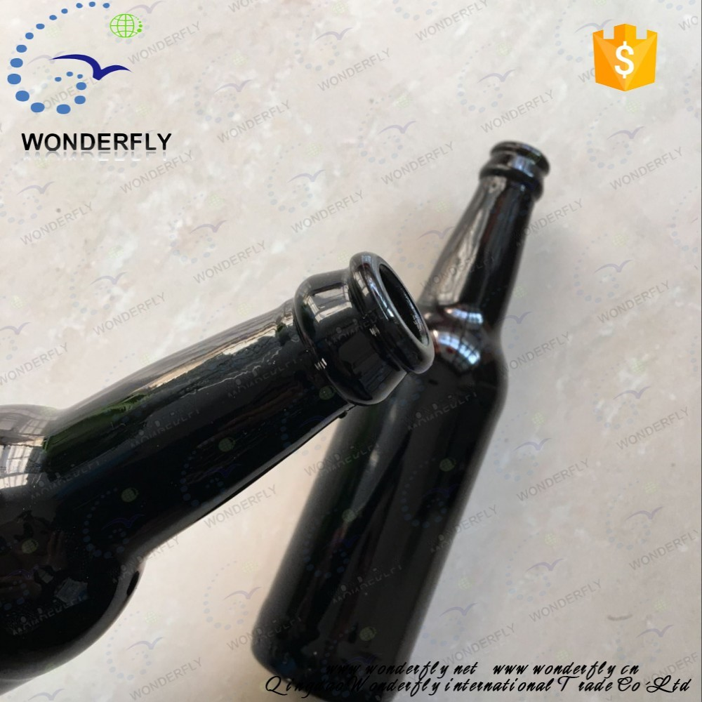Top quality 330 ML black lass bottle for beer