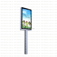 Free standing outdoor double side LED advertising sign