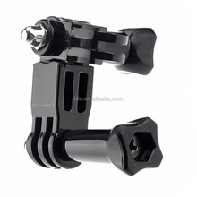 For the mini camera Bike Handlebar Seatpost Pole Mount with Three-way Adjustable Pivot Arm