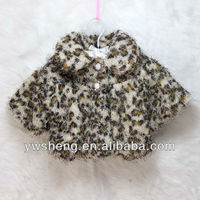 2013 New Autumn/Winter baby coats children's fur leopard jackets girls outwear