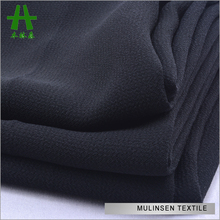 Mulinsen Textile Woven Twist 100% Polyester Printed And Dyed Pebble Georgette Fabric