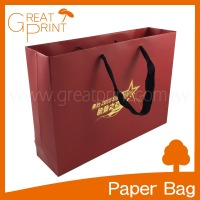 Taiwan Manufacturer Fancy Red Horizontal Paper Bag