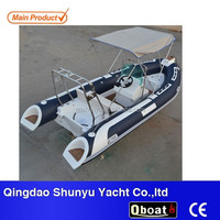 CE certificate 4.7m hypalon rigid inflatable boat with outboard motor for sale