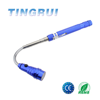 Magnetic Pickup Tool, Retractable Led Flashlight Telescopic Extending Torch Work Light LED With Magnetized Finder Base