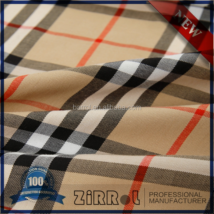 Shaoxing zhejiang yarn dyed 100% cotton materials plaid fabrics for shirting
