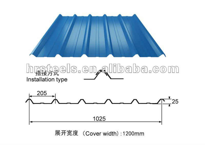 color metal roofing