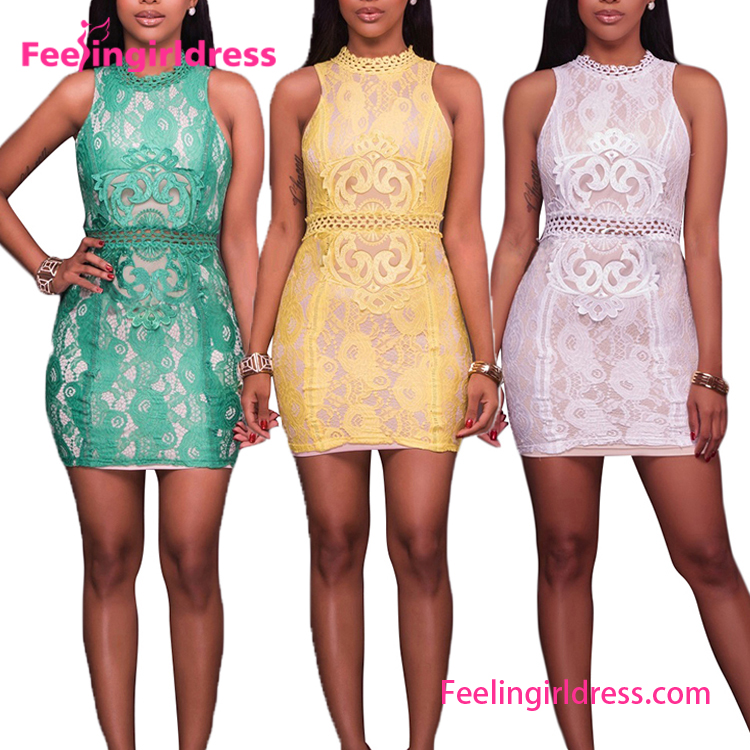 Feelingirldress 2017 Hot Club Bandage Dress Summer Women Leather New Sexy Bodycon Dress