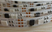 5M DC5V TM1803 LED digital strip;32leds/m with 32pixels/m,addressable;individually controlled;non-waterproof;white pcb