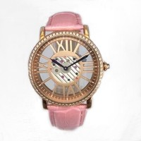 Hot Sale Vogue Watch With Leather Band, Lady Watch