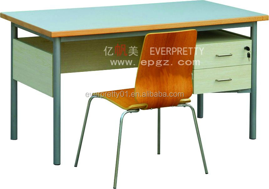 Wooden Teacher Furniture Teacher Computer Desk And Chair