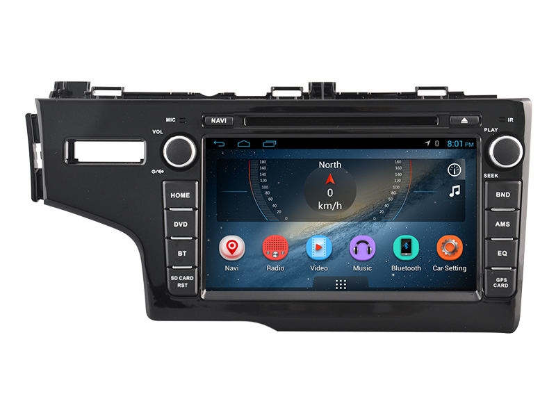 8inch android car dvd player for honda fit 2014 with Android OS,wifi,bluetooth,radio stereo