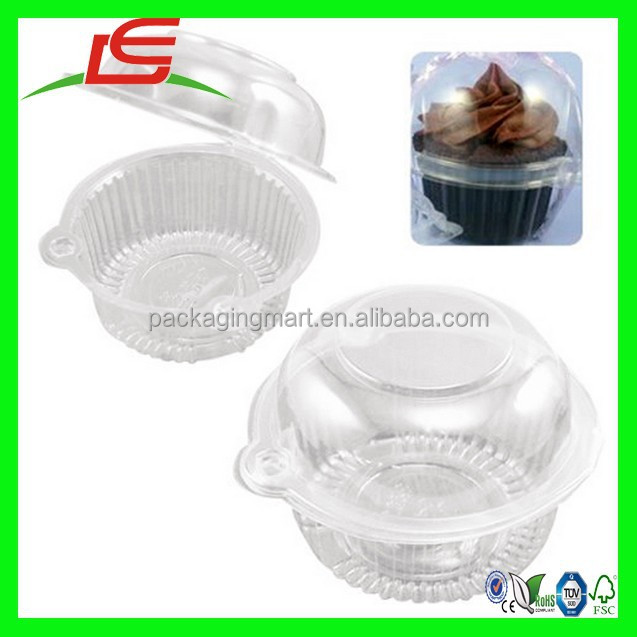 N625 Clear Plastic Muffin Pod Dome Wedding Single Cupcake Containers