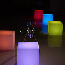 Solar power waterproof 16 colors changing glowing LED cube light