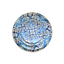 Dishes &amp; <strong>plates</strong> blue dinnerware gold rim round <strong>plates</strong>