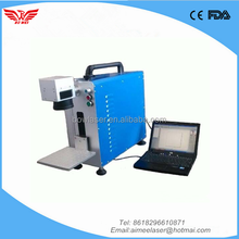 10W 20W mobile watch phones portable mini fiber laser marking machine 20W for metals and PP ABS PVC