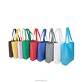 Promotional Customized Foldable bag with pouch Printed eco recyclable non woven bag factory directly sale