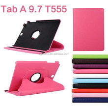 Luxury Tablet Cover Case For Samsung Galaxy Tab A 9.7 inch SM-T550 T555 Leather Flip 360 Rotating