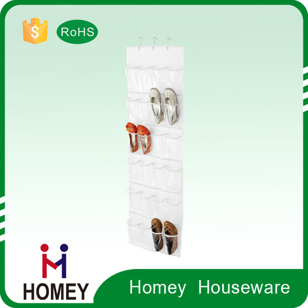 2015 competitive price hot sell high quality over the door shoe hanging organizer